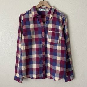 MAURICES Plaid Button Down Long Sleeve L